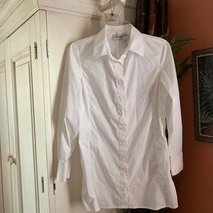 Chico's white button down shirt